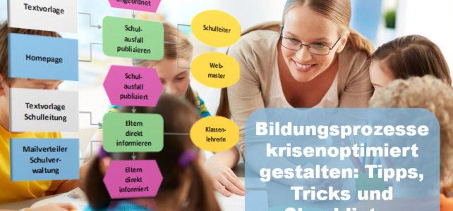 Bildungsprozesse krisenoptimiert gestalten: Tipps, Tricks und Checklisten